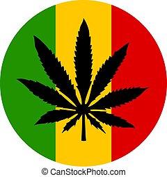 Marijuana and rastafarian icon