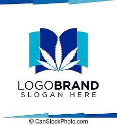 marijuana Book logo vector template