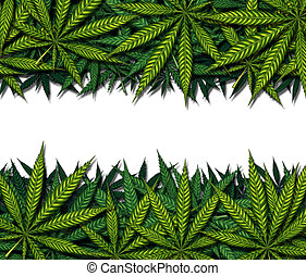 Marijuana Border Design - Marijuana border design on a white...