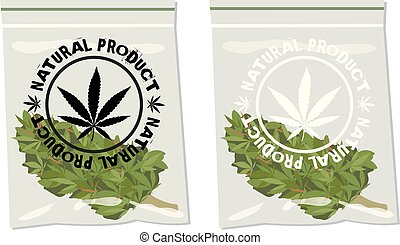 marijuana bud bag natural product