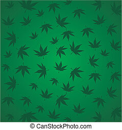 marijuana, canabis, ganja pattern - suitable for decorations