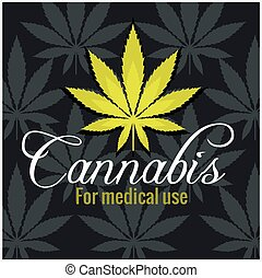 Marijuana - cannabis. For medical use. Vector set. -...