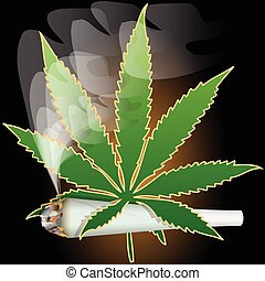 Marijuana-Cannabis-Joint - Illustration of marijuana as a ...