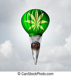marijuana, coyuntura, concepto