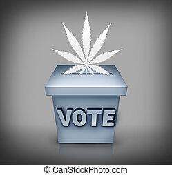 marijuana, elección, asunto