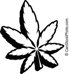 marijuana eps - Stylized Green Marijuana Pot Weed Leaf...