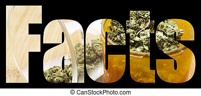 Weed, Medical Marijuana Grunge Detail and Background