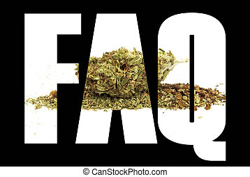 Marijuana, Frequently Asked Questions, FAQ, Text and Image
