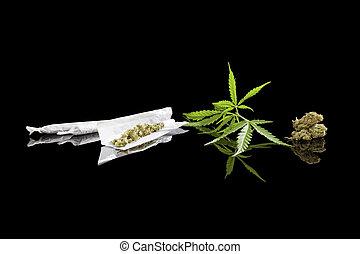 marijuana, fondo.