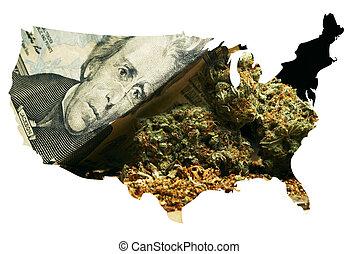 Marijuana in America - Marijuana and Cannabis in map of the...