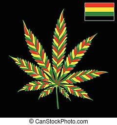 Marijuana Jamaica-background