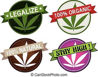 marijuana label vector