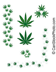 Marijuana leaf - borders and design elements.