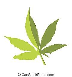 Marijuana leaf icon, flat style