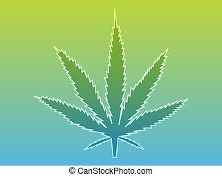 Marijuana leaf illustration