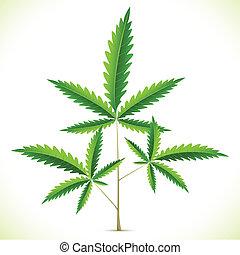 Marijuana Leaf - illustration of marijuana leaf on abstract ...