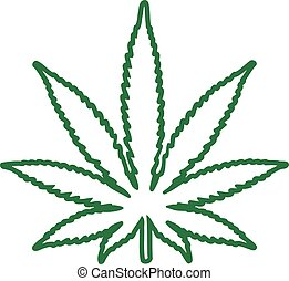 Marijuana leaf outline