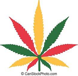 Marijuana leaf rastafari