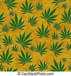 Marijuana Leaf Seamless Background - A bunch of marijuana...