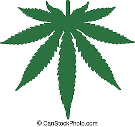 Marijuana leaf upside down