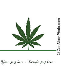Marijuana leaf with room for text