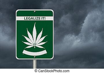 marijuana, legalize, aquilo, sinal