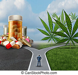 marijuana, médico, opción