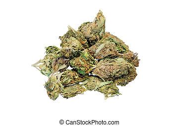 Marijuana, medical and recreational drug use close-up.