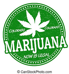 Marijuana, now is legal stamp