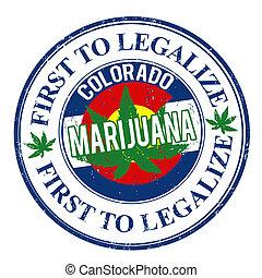 marijuana, primeiro, para, legalize, selo