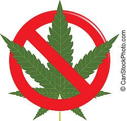 Marijuana prohibit sign