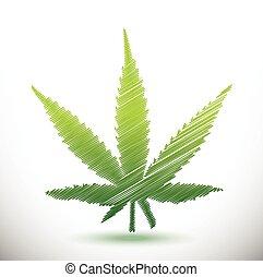 marijuana scribble illustration