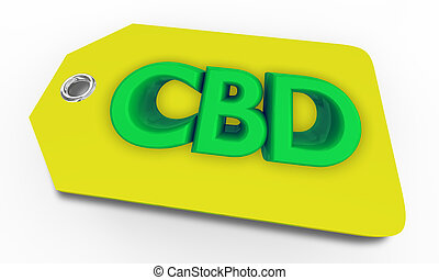 marijuana, venta, cannabis, cannabidiol, cbd, dispensery, etiqueta, ilustración, precio, 3d