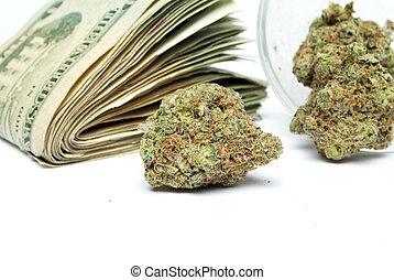 marijuana, y, dinero