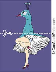 Marilyn Monroe legs and peacock head - Marilyn Monroe legs...