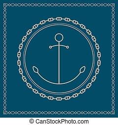 marin, emblème, chaîne ancre