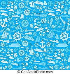 marin, fond, nautique