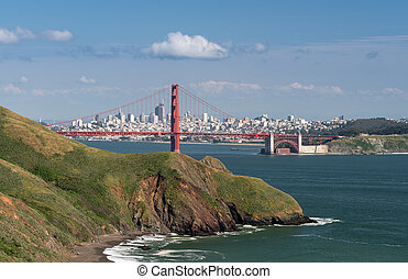 Marin Headlands, Golden Gate Bridge and San Francisco
