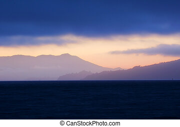 marin headlands sunset background
