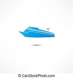 marin, liner, ikon