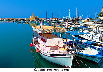 Marina and Kyrenia Castle (16th c.), North Cyprus