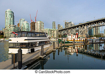 Marina at Granville Island in Vancouver BC