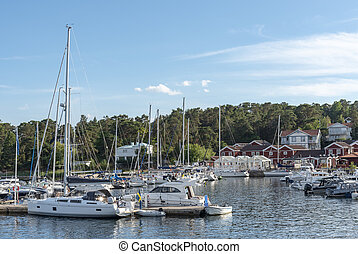 Marina at Sandhamn in Sweden