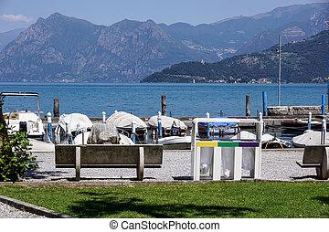 marina at the lake