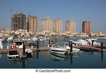 Marina at The Pearl in Doha, Qatar