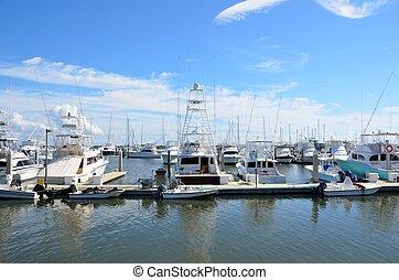 marina, bateau