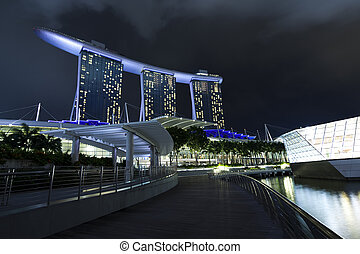 Marina Bay at night, Singapore - Marina Bay, Singapore