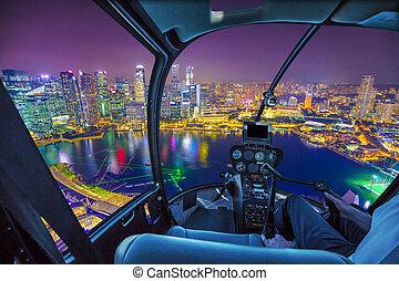 marina bay Helicopter