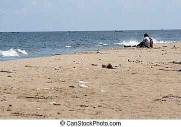 Marina Beach, Chennai, India, Asia