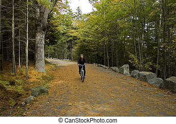 Biking on Carriage Road - Marina Biking on Carriage Road, ...
